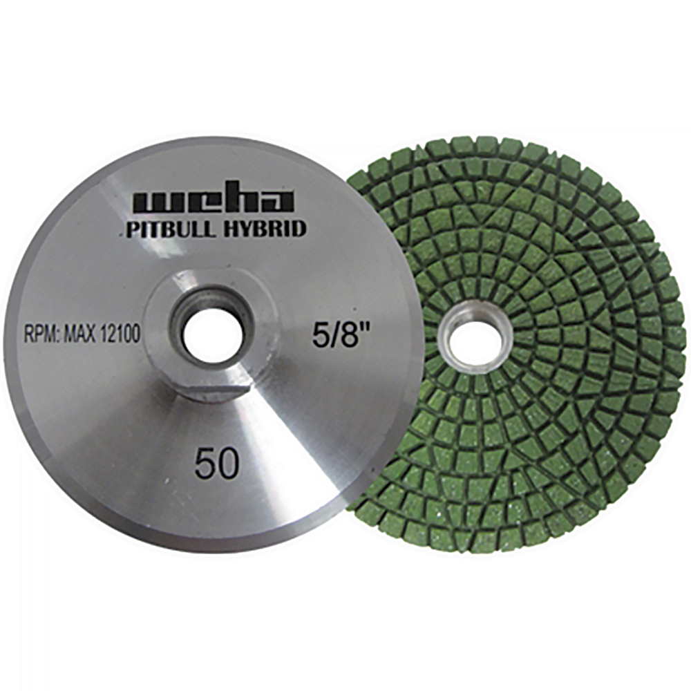 50 Grit Wet//Dry Pitbull Hybrid Diamond Resin Cup-Wheel Rigid Aluminum